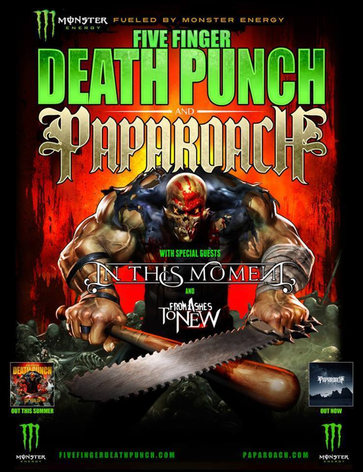 Five Finger Death Punch and Papa Roach announce Halifax tour date ...